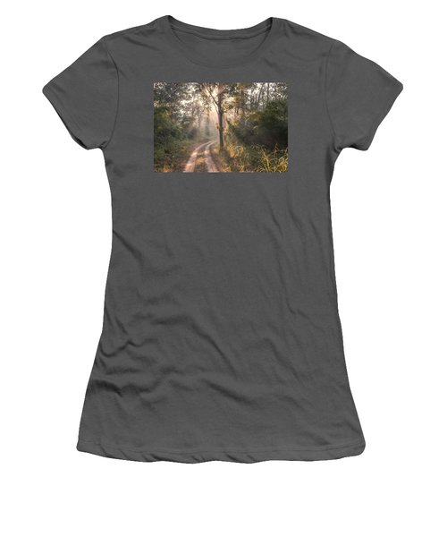 Rays Through Jungle Women's T-Shirt (Athletic Fit)