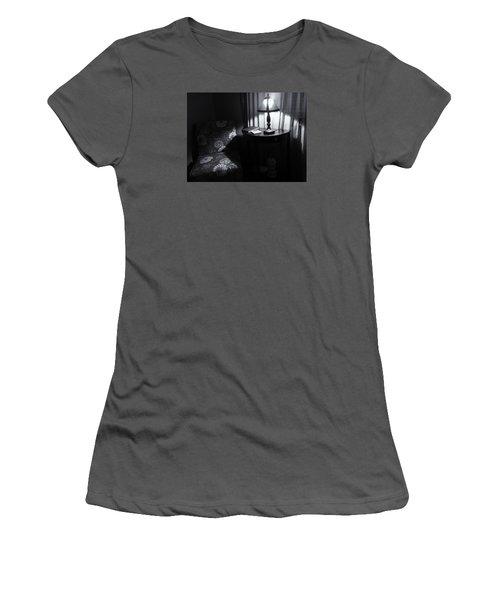 Reading Corner Women's T-Shirt (Junior Cut) by Bonnie Bruno