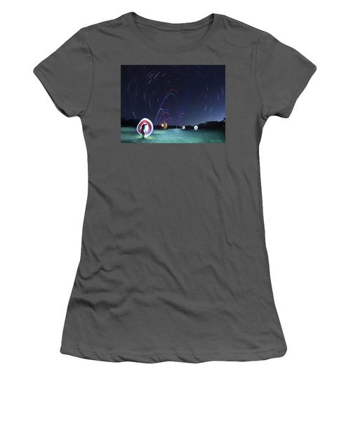 Real Golfers Even Golf At Night Women's T-Shirt (Junior Cut) by Andrew Nourse
