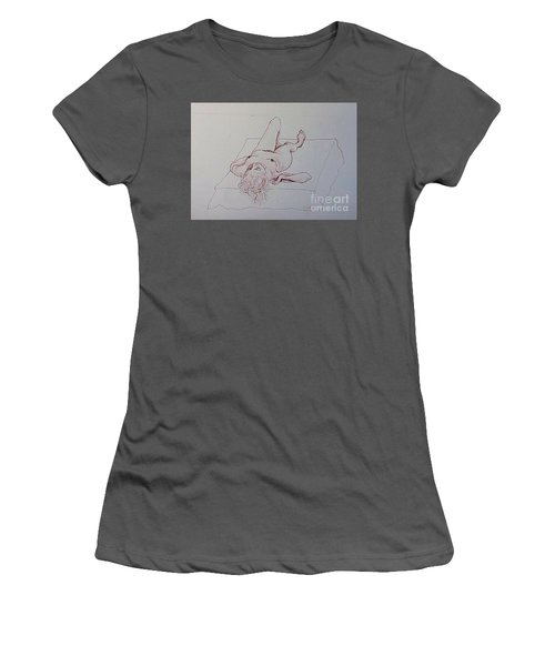 Reclining Nude Lady Women's T-Shirt (Athletic Fit)