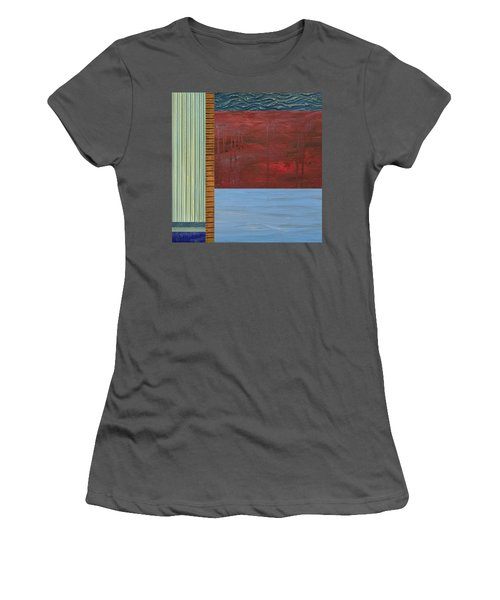 Red And Blue Study Women's T-Shirt (Athletic Fit)