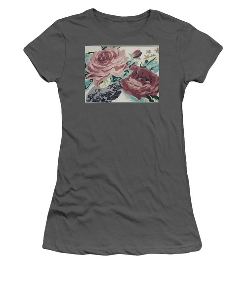 Red And Pink Flowers Women's T-Shirt (Athletic Fit)