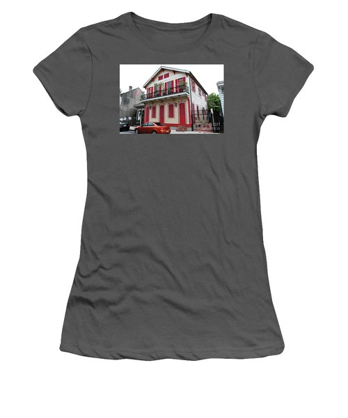 Women's T-Shirt (Junior Cut) featuring the photograph Red And Tan House by Steven Spak