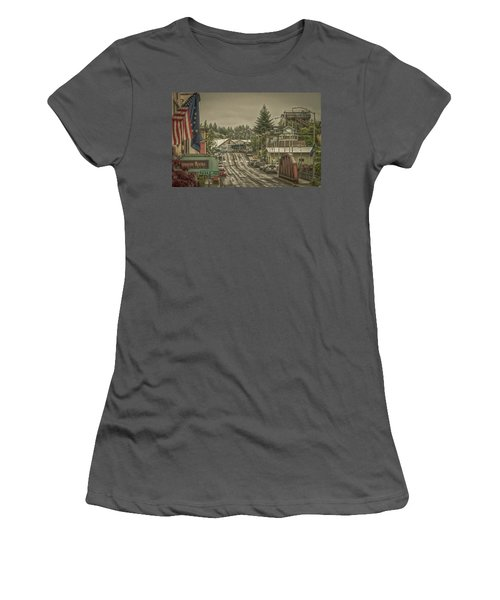 Red Bridge Haze Women's T-Shirt (Junior Cut) by Timothy Latta
