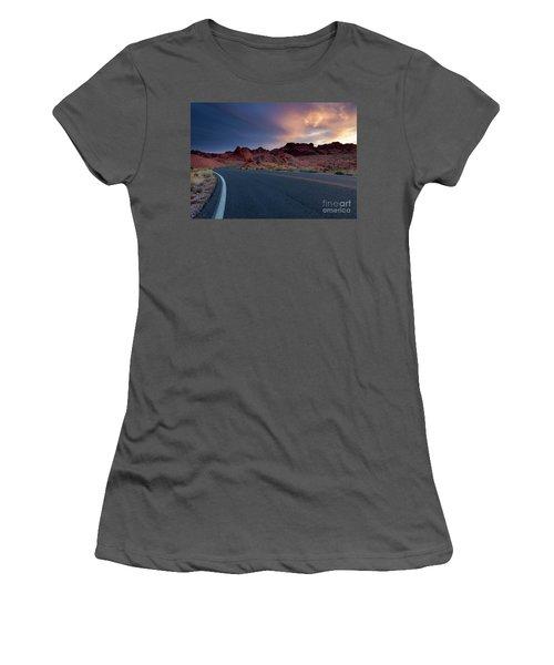 Red Desert Highway Women's T-Shirt (Athletic Fit)