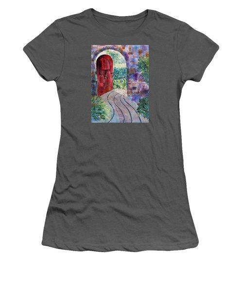 Red Door Women's T-Shirt (Athletic Fit)