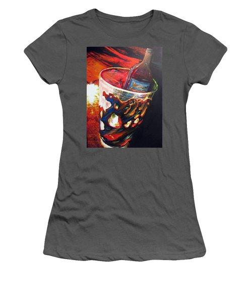 Red Women's T-Shirt (Junior Cut) by Jan VonBokel
