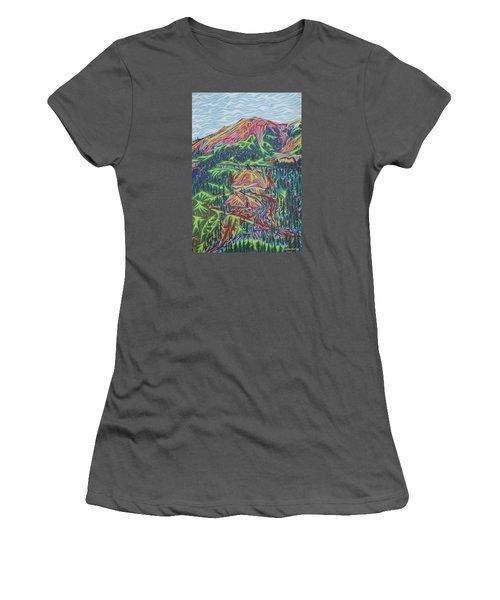 Red Mountain Women's T-Shirt (Junior Cut) by Robert SORENSEN