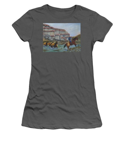 Red Rock Crossing Women's T-Shirt (Athletic Fit)