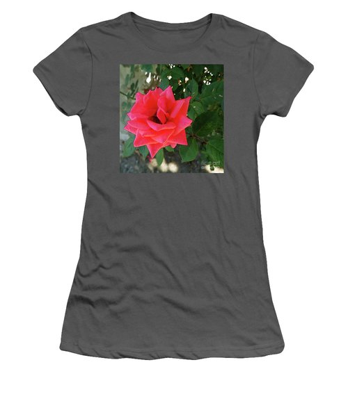 Pink Rose  Women's T-Shirt (Junior Cut) by Don Pedro De Gracia