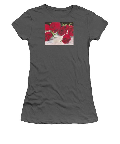 Red Rose Redux Women's T-Shirt (Athletic Fit)
