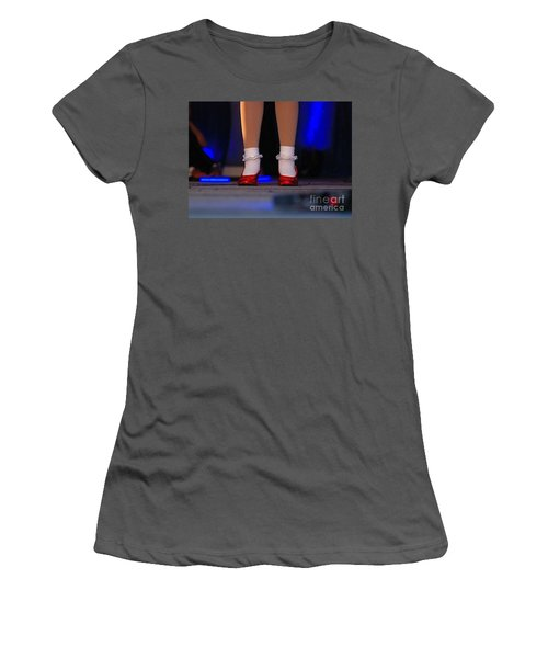 Red Shoes Women's T-Shirt (Athletic Fit)