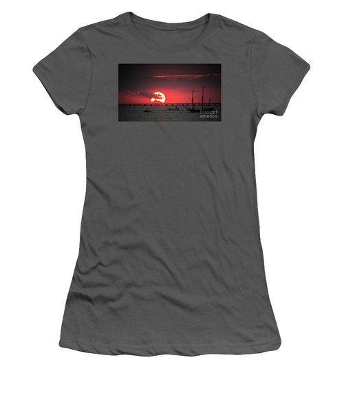 Red Sky Women's T-Shirt (Junior Cut) by Scott and Dixie Wiley