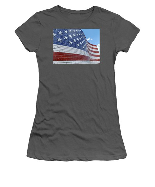 Red White And Brick Women's T-Shirt (Athletic Fit)