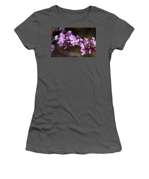 Women's T-Shirt (Junior Cut) featuring the photograph Redbuds In March by Jeff Severson