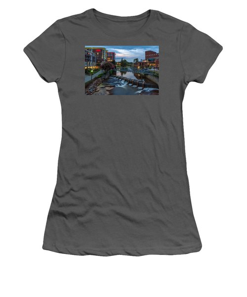 Reedy River View At Sunset Women's T-Shirt (Athletic Fit)