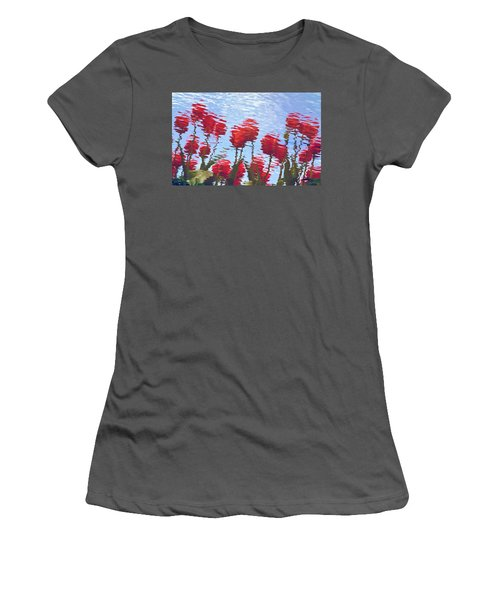 Reflected Tulips Women's T-Shirt (Athletic Fit)