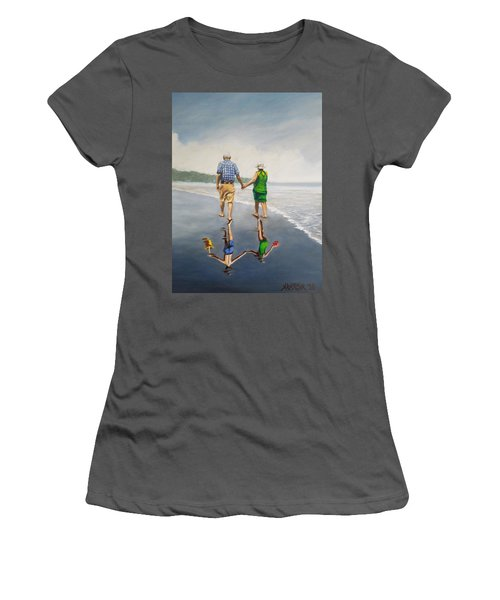 Reflecting Happiness Women's T-Shirt (Athletic Fit)