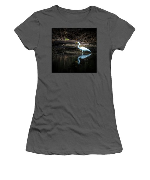 Reflecting White Women's T-Shirt (Athletic Fit)