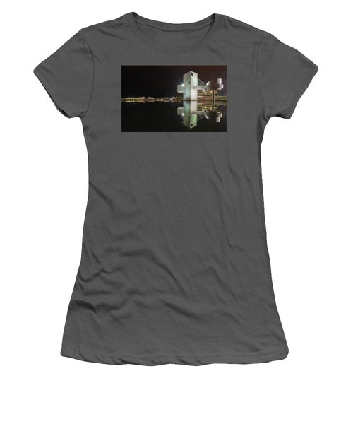 Reflection Of Rock And Roll In Cleveland Women's T-Shirt (Athletic Fit)