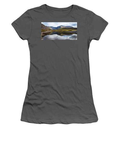 Reflection Of The Macgillycuddy's Reeks In Lough Eagher Women's T-Shirt (Junior Cut) by Semmick Photo