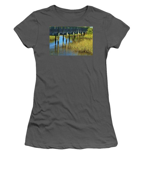 Reflections And Sea Grass Women's T-Shirt (Athletic Fit)