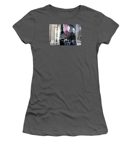 Women's T-Shirt (Junior Cut) featuring the photograph Reflections Of New York by Allen Carroll