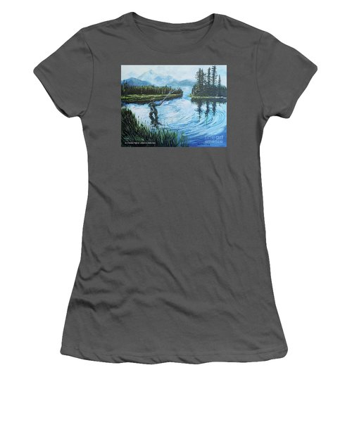 Relaxing @ Fly Fishing Women's T-Shirt (Athletic Fit)