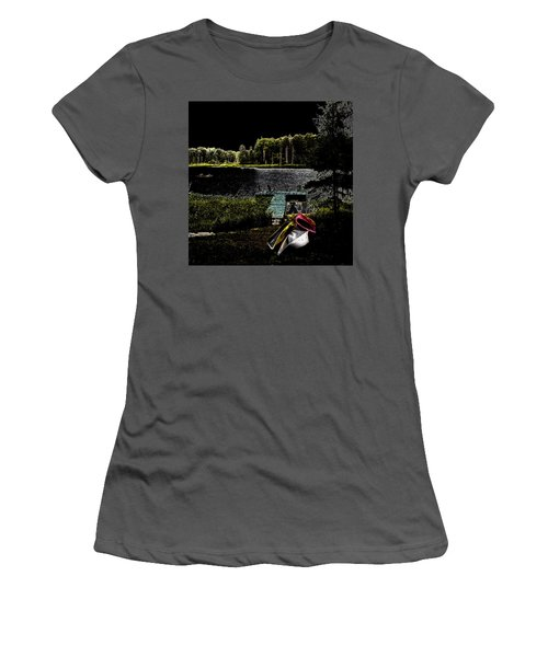 Women's T-Shirt (Athletic Fit) featuring the photograph Relaxing By Moonlight by David Patterson