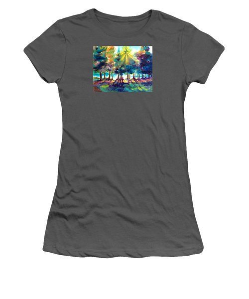 Women's T-Shirt (Junior Cut) featuring the painting Remember The Son by Kathy Braud