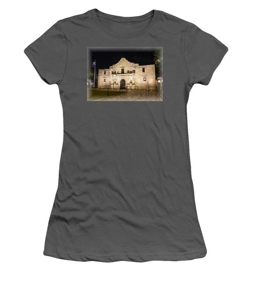 Remembering The Alamo Women's T-Shirt (Junior Cut) by Stephen Stookey