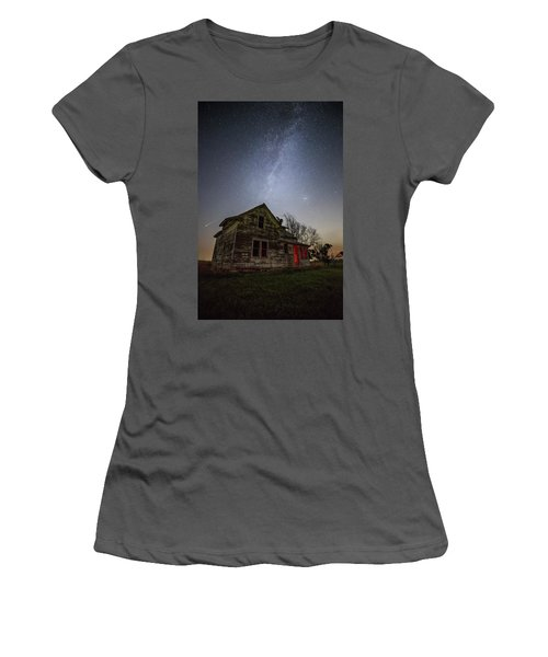Women's T-Shirt (Athletic Fit) featuring the photograph   Resident Evil by Aaron J Groen