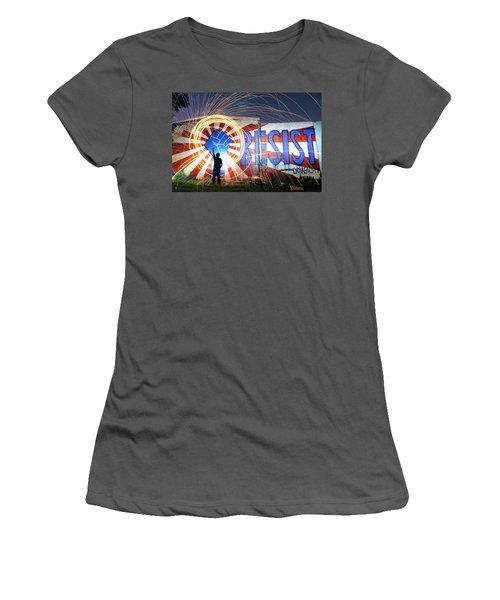 Resist Women's T-Shirt (Athletic Fit)