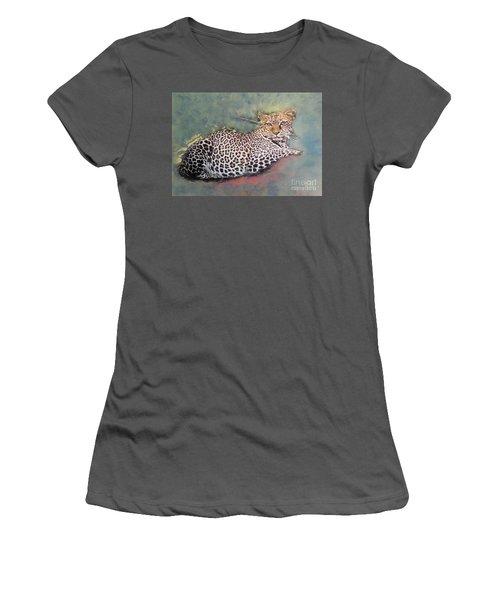 Resting Leopard Women's T-Shirt (Athletic Fit)