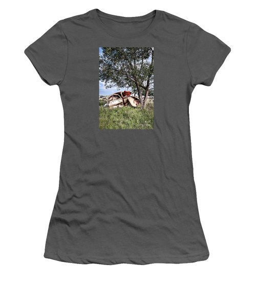 Women's T-Shirt (Junior Cut) featuring the photograph Retired Bug by Lawrence Burry