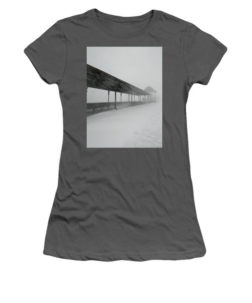 Revere Beach Nor'easter -jan 4,2018 Women's T-Shirt (Athletic Fit)