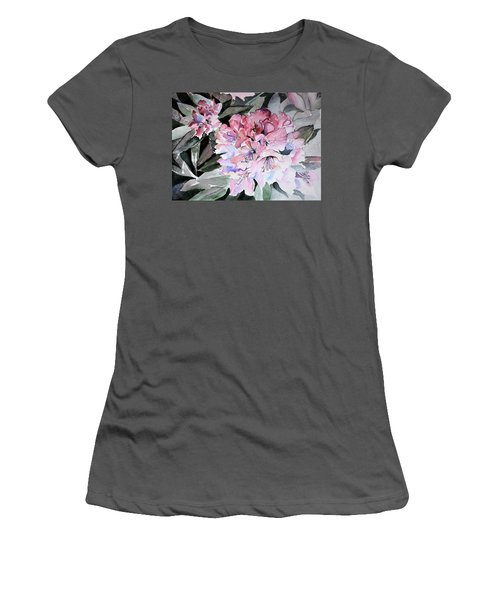 Rhododendron Rose Women's T-Shirt (Athletic Fit)