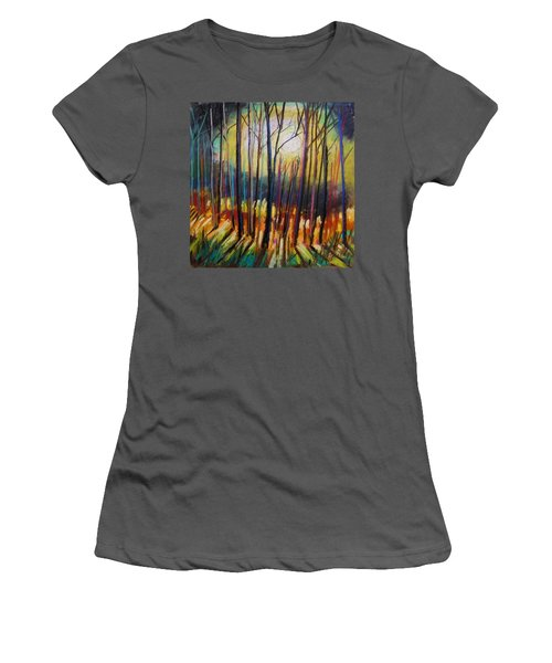 Women's T-Shirt (Junior Cut) featuring the painting Ribbons Of Moonlight by John Williams