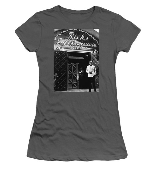 Ricks Cafe Americain Casablanca 1942 Women's T-Shirt (Athletic Fit)