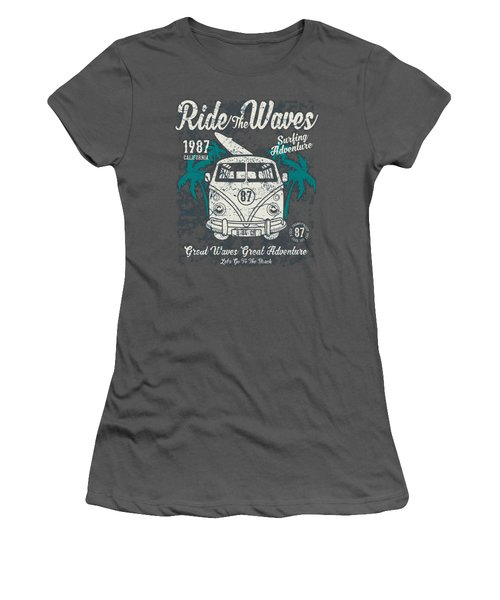 Ride The Waves Women's T-Shirt (Athletic Fit)