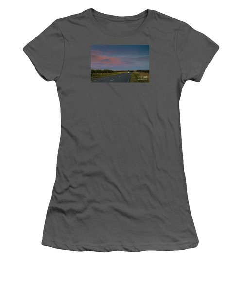 Riding Into The Sunset Women's T-Shirt (Junior Cut) by David  Hollingworth
