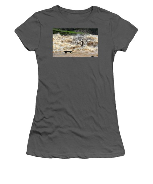 Women's T-Shirt (Athletic Fit) featuring the photograph Ringside Seat by AJ Schibig