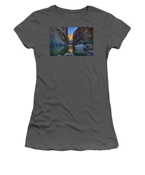 Rio Grand - Big Bend Women's T-Shirt (Junior Cut) by Kathy Adams Clark