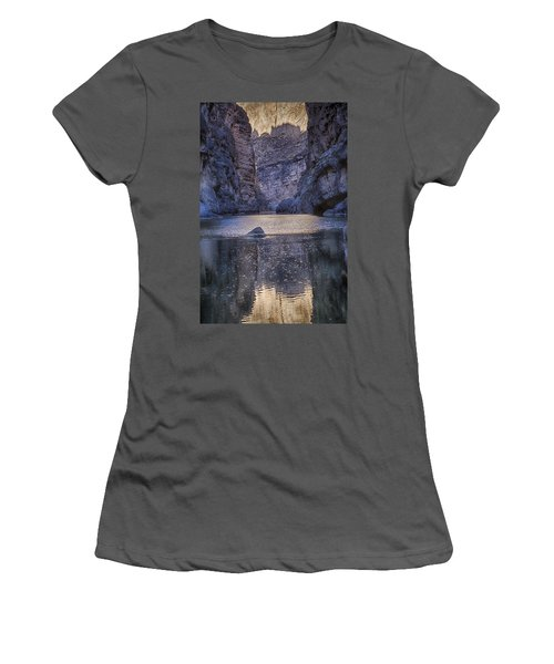 Rio Grand, Santa Elena Canyon Texas Women's T-Shirt (Athletic Fit)