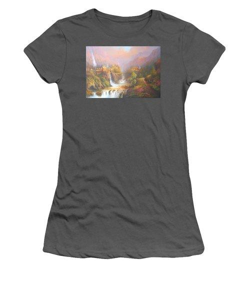 Rivendell Women's T-Shirt (Junior Cut) by Joe Gilronan