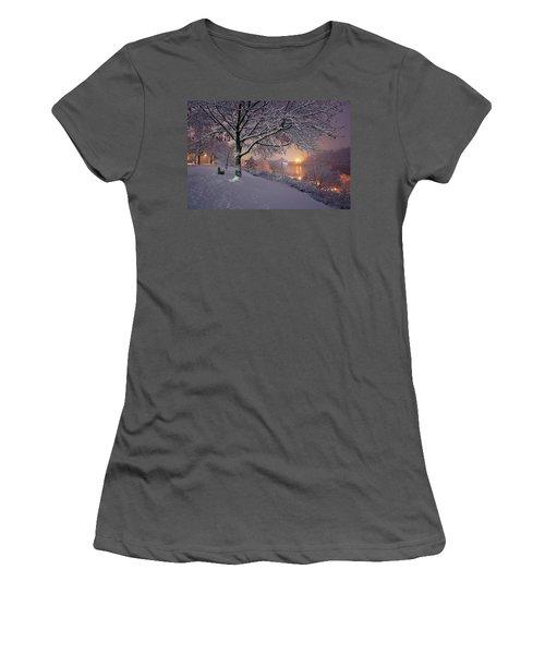 River Road  Women's T-Shirt (Junior Cut) by Emmanuel Panagiotakis