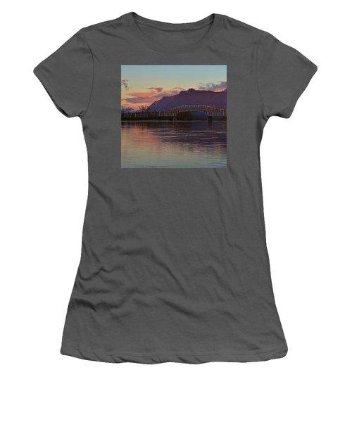 Fraser River, British Columbia Women's T-Shirt (Junior Cut) by Heather Vopni