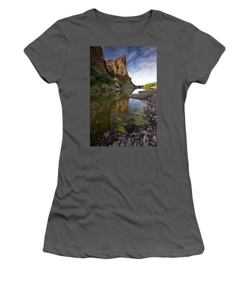 River Serenity Women's T-Shirt (Junior Cut) by Sue Cullumber