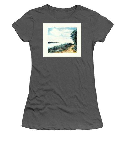 River Walk Women's T-Shirt (Junior Cut) by Heidi Kriel