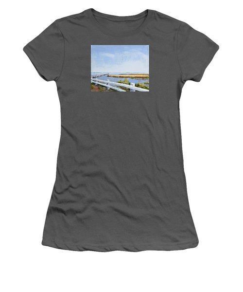 Roadside P-town Women's T-Shirt (Junior Cut) by Trina Teele